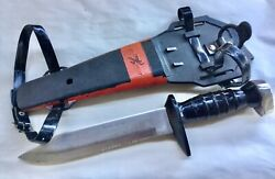 """Vintage Japan Scuba Diver's Knife Play-right Heavy Duty 12"""" W/straps Nice"""