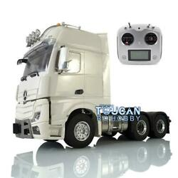 Metal 1/14 Lesu Rc 66 Chassis Radio Hercules Actros Cabin Tractor Truck Light