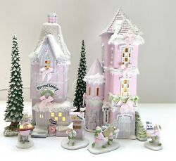 Dept 56 North Pole | Rimpyand039s Bakery Tin Soldier Toy Shop Shabby Pink Chic Rose