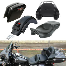 Trunk Saddlebags Rear Fender Seat Fit For Harley Tour Pak Electra Glide 14-21