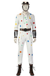 New Polka Dot Boy Cosplay Costume Halloween Outfit Adult Men Battle Clothing Set