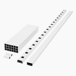 Deck Stair Railing Kit 94 In. Prefinished Easy-to-assemble Composite White