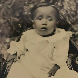 Native American Baby Boy Toddler Dress 1/6 Plate Tintype Ferrotype Photo A324