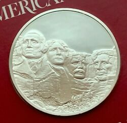 1975 Proof Silver The Treasures Of American Presidentsand039 Portraits Medal
