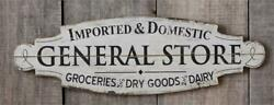 New Farmhouse White Antique General Store Sign Pantry Kitchen Wall Hanging 31