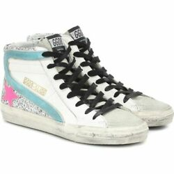 Golden Goose Womenand039s Sneaker Shoes Shoe Slide Leather Sneakers White 8-424