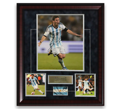 Lionel Messi Signed Autographed Photo Framed To 20x24 Argentina Icons