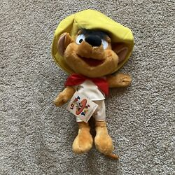 Vintage Looney Tunes Speedy Gonzales Plush 17 Six Flags New Old Stock Nwt