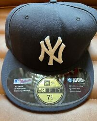 New Era Ny Yankees Size 7 1/2 5950 Fitted Hat Cap On Field Usa Made Mlb 2008