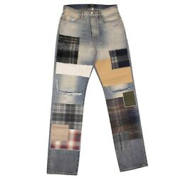 Nwt Amiri Blue Patchwork Loose Fit Jeans Size 29 1490