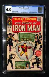 Tales Of Suspense 57 Cgc 4.0 Origin And 1st Appearance Of Hawkeye