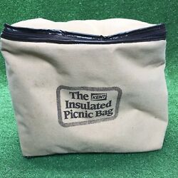 Vintage Kent Feeds Seed Cow Pig Chicken Farm Insulated Picnic Bag Advertising