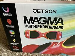 Jetson Red Multicolor Led Deck 10 Mph Magma Light Up Hoverboard