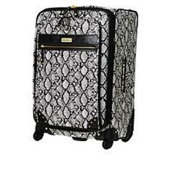 Samantha Brown Embossed 26 Upright Spinner Black And White Nwt