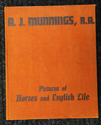 Nice Vintage 1939 Pictures Of Horses And English Life By A.j. Munnings, Ra
