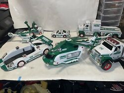 Hess Gasoline Lot Of 8 2013 Helicopter Trucks Great Condition