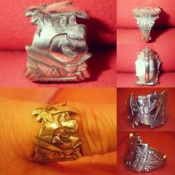 The Flintstones Fred Spoon Silver Plate Ring One Size Holland 1970s Vintage Used