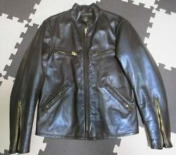 Rrl Double Rl Cafe Racer Riders Jacket Cowhide Leather Men's Size S Dark Brown