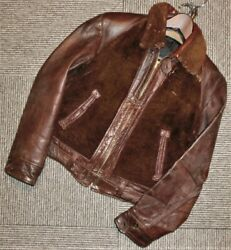 Vintage 1930 1940 Grizzly Bear Jean Riders Jacket With Chin Strap Mens M Size