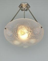 Sabino A French 1930 Opalescent Art Deco Pendant ...... Chandelier Lamp France