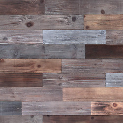 Holydecot Peel And Stick Wood Wall Panels, Real Wood, Solid Wood Planks Diy Easy