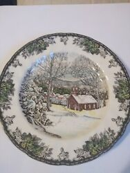 Johnson Brothers The School House The Friendly Village Dinner Plate 10 1/2