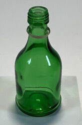 Green Mini 4 Glass Bottle Missing Lid Collectible