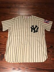 Ultra Rare Vtg Mitchell And Ness Yankees 1939 Lou Gehrig Flannel Authentic Jersey