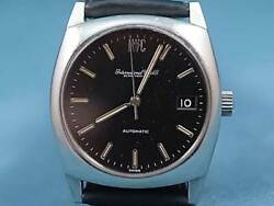 Vintage Cal.8541b Black Automatic Mens Watch Authentic Working