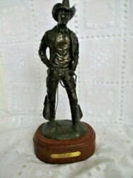 Tom Moss Western Bronze, Cowboy, The Wrangler 16/25, With Provenence Papers