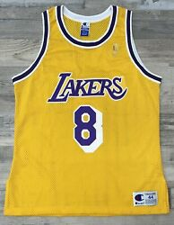 Rookie Kobe Bryant Lakers Gold Authentic Champion Jersey 96 97 50th Anniversary