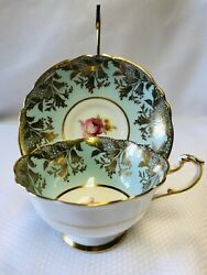 Vintage - Paragon - Fine Bone China - Tea Cup And Saucer - H.m. The Queen Mary