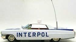 Vintage Japanese Tin Friction 1960's Cadillac Interpol W/ Battery Opp Option