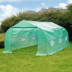Greenhouse 12and039 X 10and039 X 7and039 Portable Green Houses Tunnel Tent Large Walk-in Heav