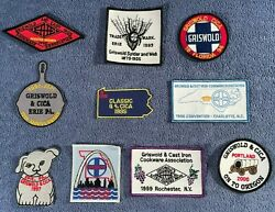 Griswold Cast Iron Cookware Association G And Cica Patches 1992-2011 You Pick
