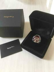 2012 The Apple Silver Ring Men's Jewelry With Case Cubic Zirconia Unused Rare