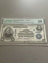 1902 First National Bank Of Falmouth Kentucky 5 Large Note Pmg Grade 50