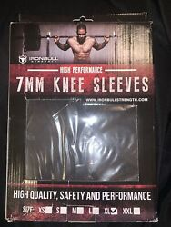 Iron Bull Strength Xl Knee Sleeves 7mm High Performance Support Compression