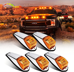 5pcs 17led Amber Cab Marker Light Waterproof Top Roof Running Cab Lights With