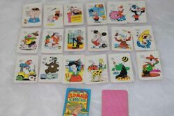 Vintage Old Maid Circus Card Game Complete Edu-cards 292 Guc