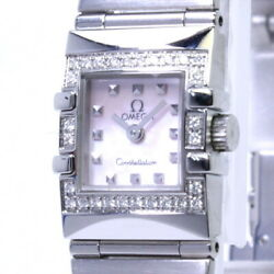 Omega Constellation Carre Quadra Ladies Ss 1535.73.00 From Japan N0829