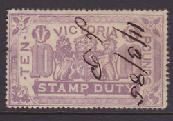 Victoria Rare 1885 £10 Pounds Lilac Qv Stamp Duty Used Sg 279 Cv400+ Lg140d
