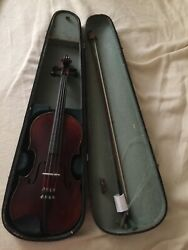 Antique French Claude Leblanc violin And Bausch Bow With Case.