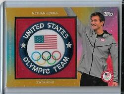 Rarest 2016 Topps Olympic Nathan Adrian 1/1 Gold Team Patch Card Usa Swimming