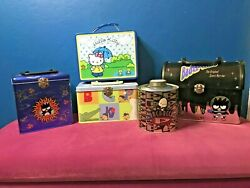 Lot Of Vintage Hello Kitty Lunch Boxes/purses - Tins - Coin Bank - Sanrio