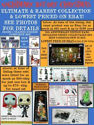 Lot Nip Nightmare Before Christmas Figures Metalfigs Collectables Lowest Priced