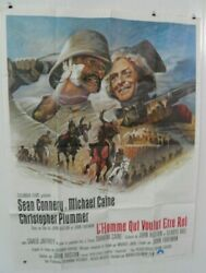 Man Who Would Be King 1975 Large French Poster Sean Connery Michael Caine Mason