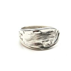 Sterling Silver Indian Chief Spoon Ring Hot Springs Arkansas Size 11