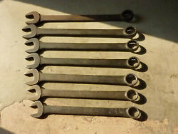 Vintage Snap-on Tools Sae Standard Combination Industrial Finish Wrenches