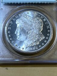 1885-cc Us Morgan Dollar Graded Ms64 By Pcgs Rattler And Cac Sticker Low Mintage